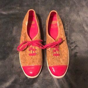 NWOT Kate Spade/Ked collaboration pink cork